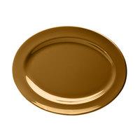 Elite Global Solutions D1014OV Urban Naturals Tapenade 14 1/2 inch x 10 1/2 inch Oval Melamine Platter - 6/Case