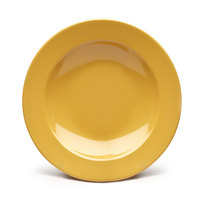Elite Global Solutions D878PB Rio Yellow 12 oz. Round Melamine Pasta / Soup Bowl - 6/Case