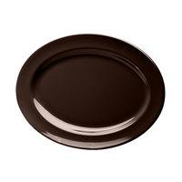 Elite Global Solutions D1014OV Urban Naturals Aubergine 14 1/2 inch x 10 1/2 inch Oval Melamine Platter - 6/Case