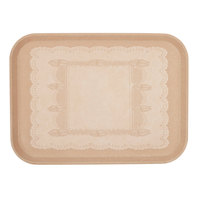 Cambro 1826246 17 7/8 inch x 25 3/4 inch Rectangular Doily Light Peach Customizable Fiberglass Camtray - 6/Case