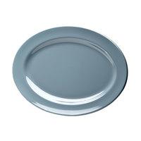 Elite Global Solutions D1014OV Urban Naturals Abyss 14 1/2 inch x 10 1/2 inch Oval Melamine Platter - 6/Case