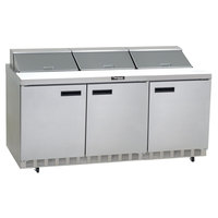 Delfield 4472N-12 72 inch 3 Door Refrigerated Sandwich Prep Table
