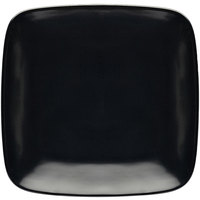 Elite Global Solutions D9SQR Radius 8 1/4 inch Black Rounded Edge Square Plate   - 6/Case