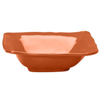 Elite Global Solutions M103BRF Tuscany 1.75 Qt. Sunburn Terra Cotta Square Melamine Bowl