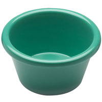 Elite Global Solutions R25SM Rio Autumn Green 2.5 oz. Melamine Ramekin - 6/Case