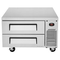 Turbo Air TCBE-36SDR 36 inch Two Drawer Refrigerated Chef Base