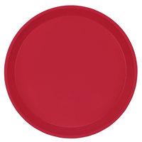 Cambro 1000221 10 inch Round Ever Red Customizable Fiberglass Camtray - 12/Case