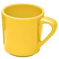 Elite Global Solutions DC14-Y Rio Yellow 14 oz. Melamine Mug - 6/Case