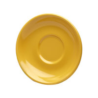 Elite Global Solutions DS Rio Yellow 5 5/8 inch Round Melamine Coffee Saucer