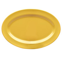 Elite Global Solutions D812OV Rio Yellow 12 3/4 inch x 8 3/4 inch Oval Melamine Platter - 6/Case