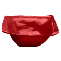 Elite Global Solutions M13BRF Tuscany 4 Qt. Cranberry Square Melamine Bowl