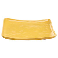 Elite Global Solutions M14SQRF Tuscany Yellow 13 1/2 inch Square Plate