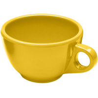 Elite Global Solutions DMC Rio Yellow 8 oz. Melamine Coffee Cup - 6/Case