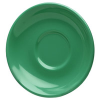 Elite Global Solutions DS Rio Autumn Green 5 5/8 inch Round Melamine Coffee Saucer