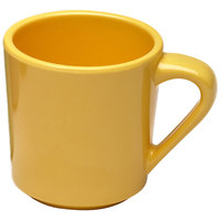 Elite Global Solutions DC-Y Rio Yellow 10 oz. Melamine Mug - 6/Case