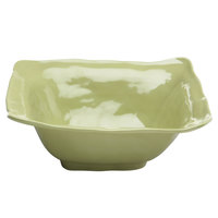 Elite Global Solutions M13BRF Tuscany 4 Qt. Weeping Willow Green Square Melamine Bowl