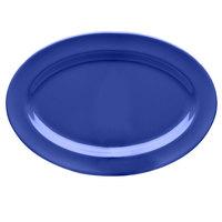 Elite Global Solutions D812OV Rio Winter Purple 12 3/4 inch x 8 3/4 inch Oval Melamine Platter