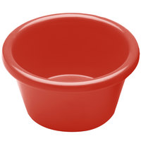 Elite Global Solutions R25SM Rio Spring Coral 2.5 oz. Melamine Ramekin - 6/Case