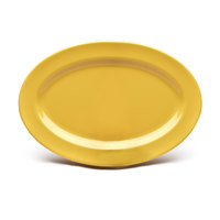 Elite Global Solutions D69OV Rio Yellow 9 1/4 inch x 6 1/4 inch Oval Melamine Platter - 6/Case