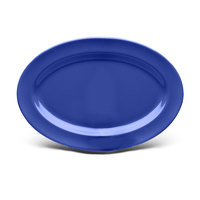 Elite Global Solutions D69OV Rio Winter Purple 9 1/4 inch x 6 1/4 inch Oval Melamine Platter - 6/Case