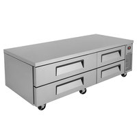 Turbo Air TCBE-72SDR-N 72 inch Four Drawer Refrigerated Chef Base