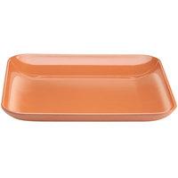Elite Global Solutions M1325SQSTC The Modernist Sunburn Terra Cotta 13 1/4 inch Square Melamine Platter