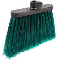 Carlisle 3686709 Duo-Sweep 12 inch Medium Duty Angled Broom Head with Green Flagged Bristles