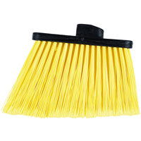 Carlisle 3686704 Duo-Sweep Medium Duty Angled Broom Head with Flagged Yellow Bristles