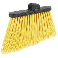 Carlisle 3686704 Duo-Sweep 12 inch Medium Duty Angled Broom Head with Yellow Flagged Bristles