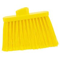 Carlisle 36867EC04 Duo-Sweep 12 inch Medium Duty Angled Broom Head with Yellow Flagged Bristles
