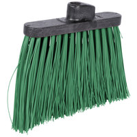 Carlisle 3686809 Duo-Sweep 12 inch Heavy Duty Angled Broom Head with Green Unflagged Bristles