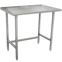 Advance Tabco TMSLAG-240-X 30 inch x 24 inch 16 Gauge Professional Stainless Steel Work Table