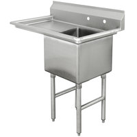 Advance Tabco FC-1-1620-18 One Compartment Stainless Steel Commercial Sink with One Drainboard - 36 1/2 inch