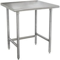 Advance Tabco TMSLAG-242-X 24 inch x 24 inch 16 Gauge Professional Stainless Steel Work Table