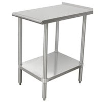 Advance Tabco TFMSU-152 Stainless Steel Equipment Filler Table with Adjustable Undershelf - 15 inch x 24 inch
