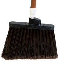Carlisle 3686701 Duo-Sweep Medium Duty Angled Broom Head with Flagged Brown Bristles - 12/Case