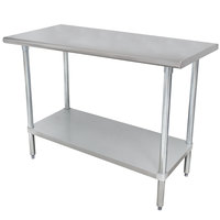 """Advance Tabco ELAG-247-X 24"""" x 84"""" 16 Gauge Stainless Steel Work Table with Galvanized Undershelf"""