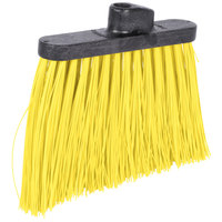 Carlisle 3686804 Duo-Sweep 12 inch Heavy Duty Angled Broom Head with Yellow Unflagged Bristles