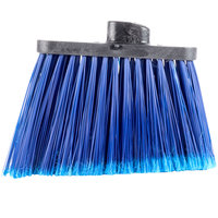 Carlisle 3686714 Duo-Sweep Medium Duty Angled Broom Head with Flagged Blue Bristles