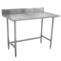 Advance Tabco TKMSLAG-246-X 72 inch x 24 inch 16 Gauge Professional Stainless Steel Work Table with 5 inch Backsplash