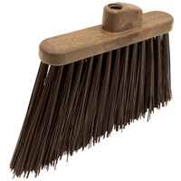 Carlisle 36868EC01 Duo-Sweep 12 inch Heavy Duty Angled Broom Head with Brown Unflagged Bristles
