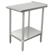 Advance Tabco TFMSU-150 Stainless Steel Equipment Filler Table with Adjustable Undershelf - 15 inch x 30 inch