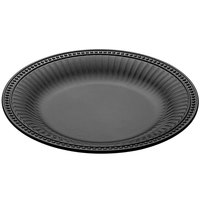 Elite Global Solutions M14RB Venetian Black 14 inch Round Beaded Edge Platter