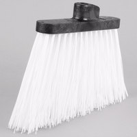 Carlisle 3686802 Duo-Sweep 12 inch Heavy Duty Angled Broom Head with White Unflagged Bristles