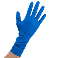 High Risk Latex Exam Gloves 15 Mil Small - Blue