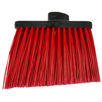 Carlisle 3686705 Duo-Sweep Medium Duty Angled Broom Head with Flagged Red Bristles