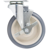 Cambro 60033 Equivalent 6 inch Swivel Caster with Brake for Cambro Products