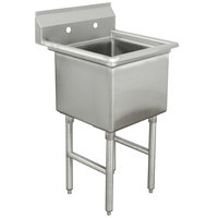 Advance Tabco FC-1-1620 One Compartment Stainless Steel Commercial Sink without Drainboard - 21 inch