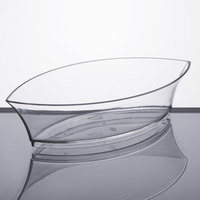 Fineline Tiny Temptations 6207-CL 4 1/2 inch x 2 1/2 inch Tiny Treasures Disposable Clear Plastic Tray   - 10/Pack