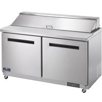 Arctic Air AMT60R 60 inch 2 Door Mega Top Refrigerated Sandwich Prep Table